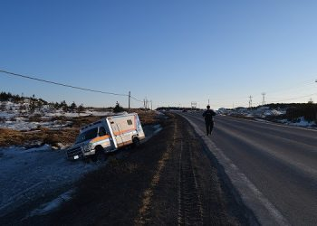 Police say Labrador man assaulted paramedic, stole ambulance and crashed into ditch