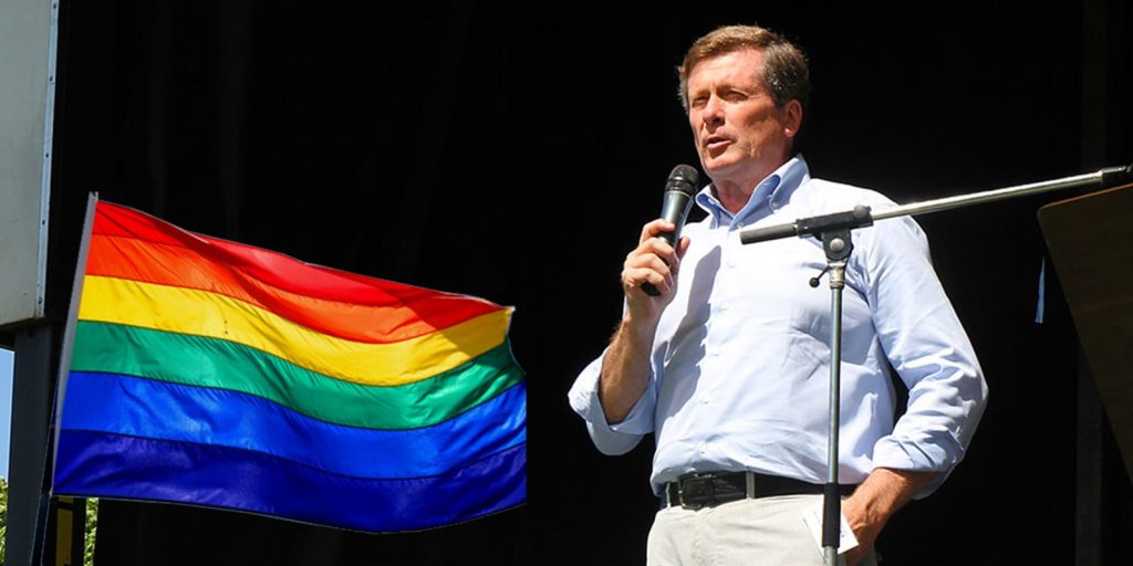 John Tory to raise LGBTQ flags over city hall to mark start of Toronto Pride