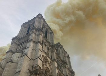 Inferno rages at Notre Dame Cathedral in Paris