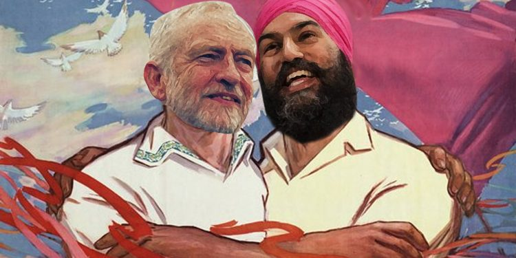 Jeremy Corbyn and Jagmeet Singh aim to unite socialists worldwide