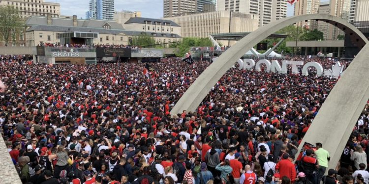 Three suspects in custody as two shot at Raptors parade