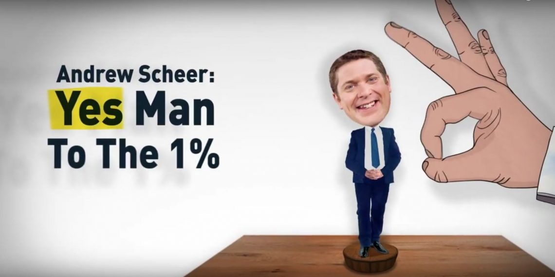 Unifor-linked third party organization launches Andrew Scheer attack ads