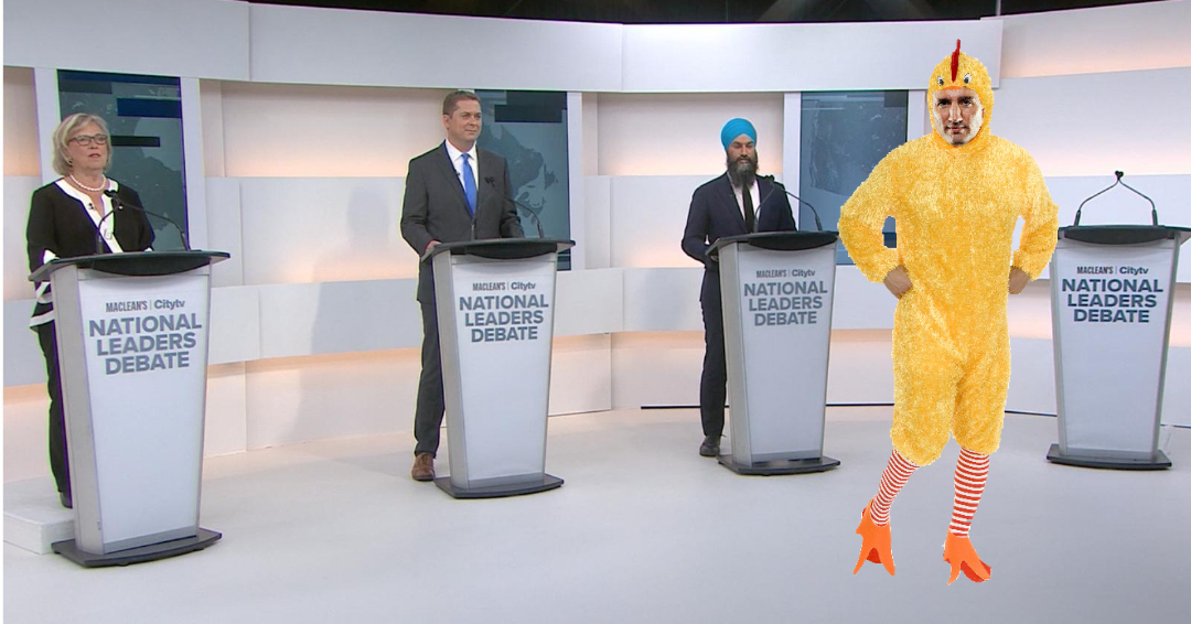 Justin Trudeau chickened out of first debate