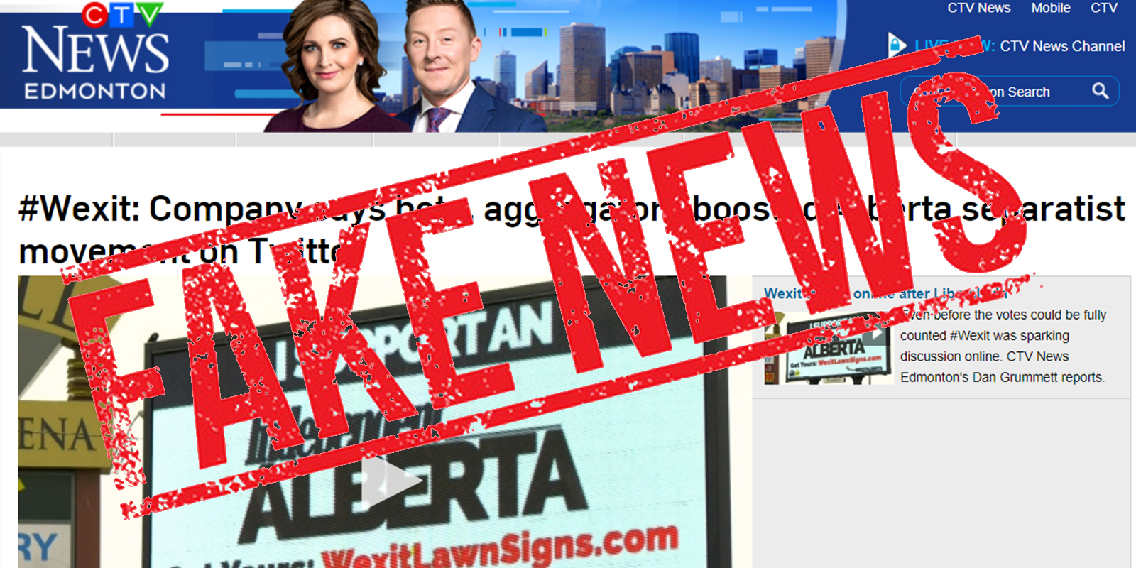 FAKE NEWS: CTV reports on dubious claim bots gave #Wexit big boost