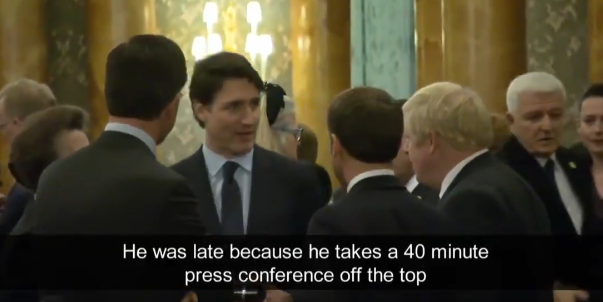 WATCH: Trump calls Trudeau 'two-faced' in response to PM caught talking about POTUS to world leaders