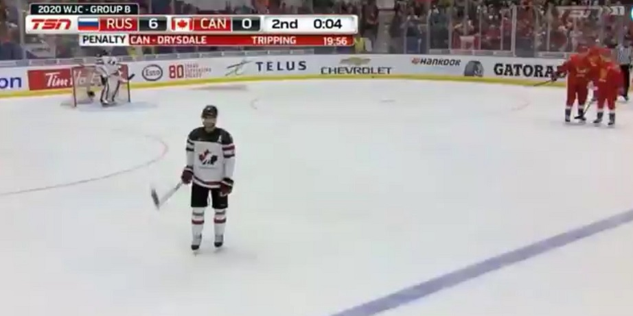 Canada trounced 6-0 by Russia at World Juniors