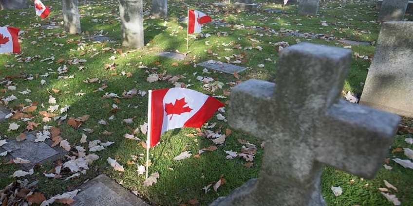 Over 160 Canadian flags stolen from veteran cemetery in Ontario