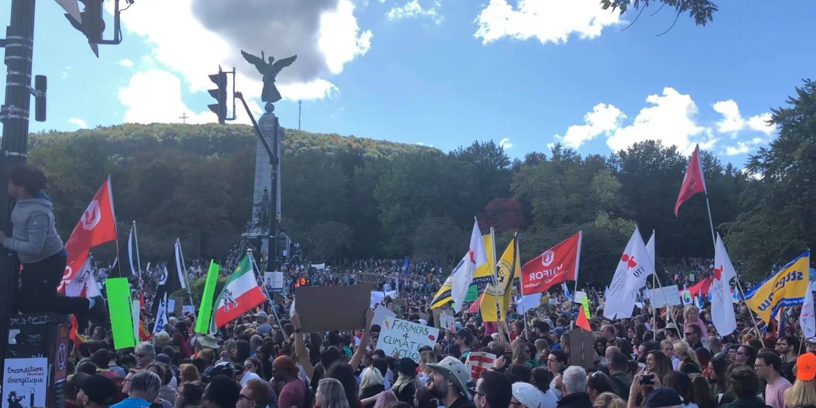 Here's what's happening at the Montreal climate protests right now