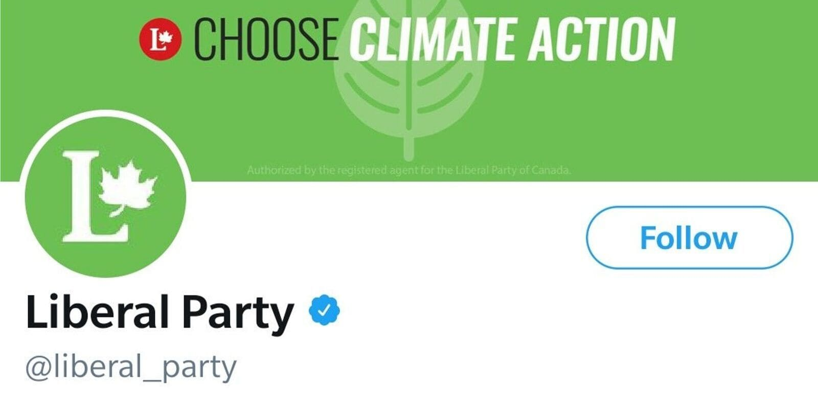 Liberal Party rips off Green Party logo