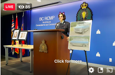 B.C. RCMP leave cat ear filter on in double homicide press conference livestream