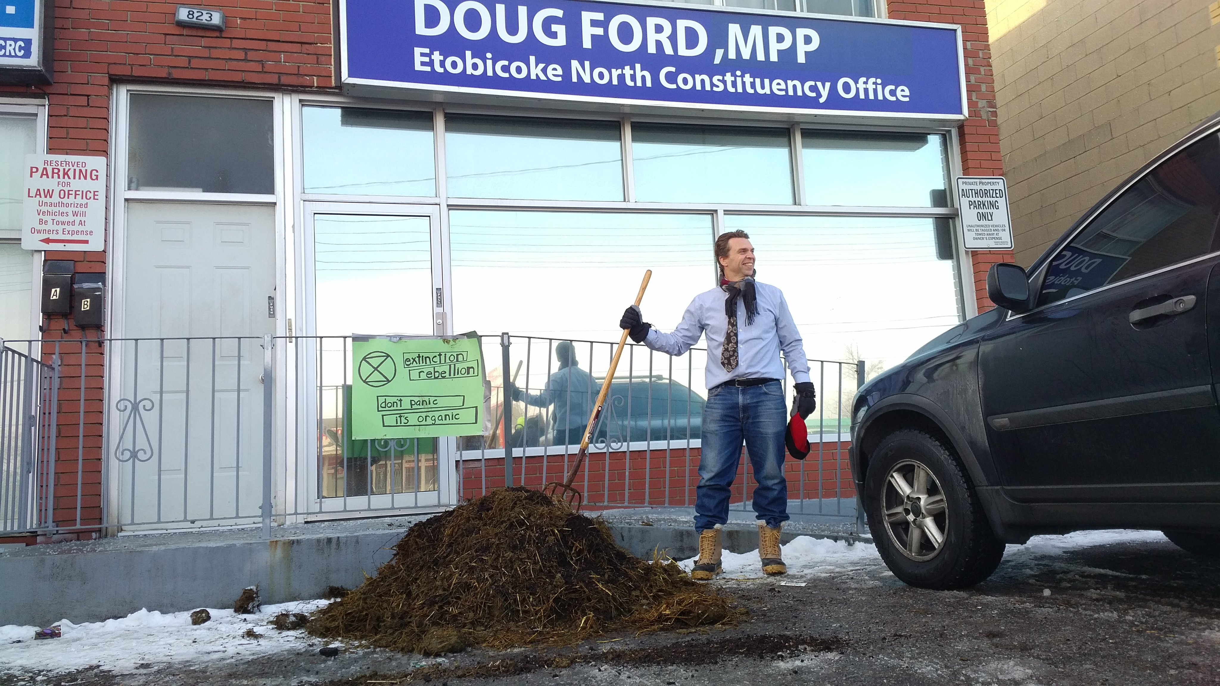 Two charged for dung-dumping incident at Ford's Etobicoke office