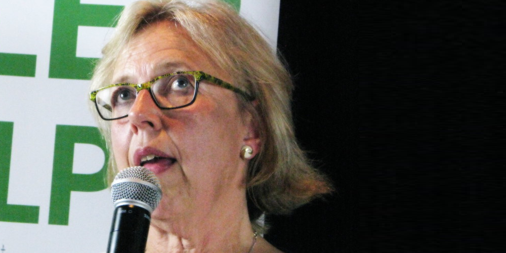 WATCH: Elizabeth May  promises to decriminalize all drugs