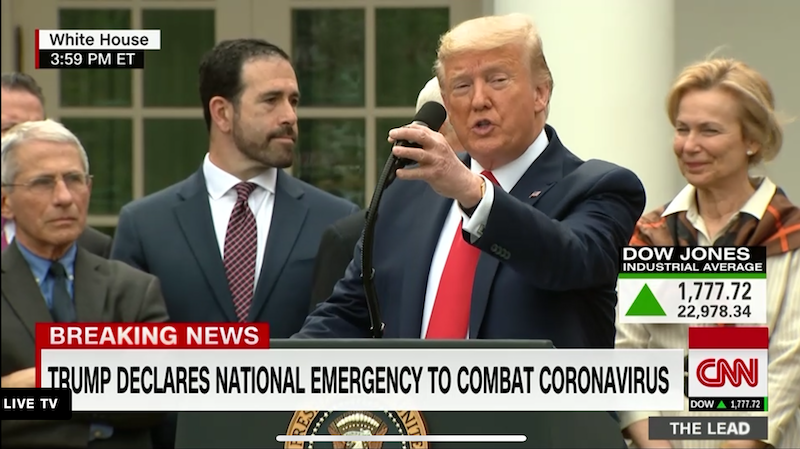 Trump announces state of emergency, new protocol for coronavirus testing