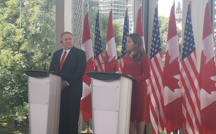 Pompeo slams NY Times reporter for parroting 'China's line' during Ottawa visit, stands with Canada for release of Spavor, Kovrig