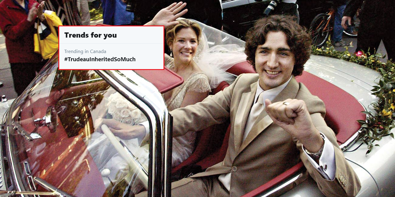Yesterday, the hashtag #ScheerWasSoPoorThat trended throughout Canada. Today, a new trend arose: #TrudeauInheritedSoMuch