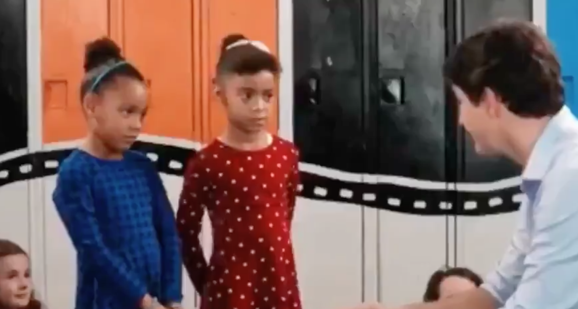WATCH: Young girls ask Justin Trudeau about blackface on children's show