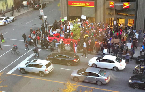 """EXCLUSIVE: Chileans in Montreal protest against right-wing """"dictatorship"""""""
