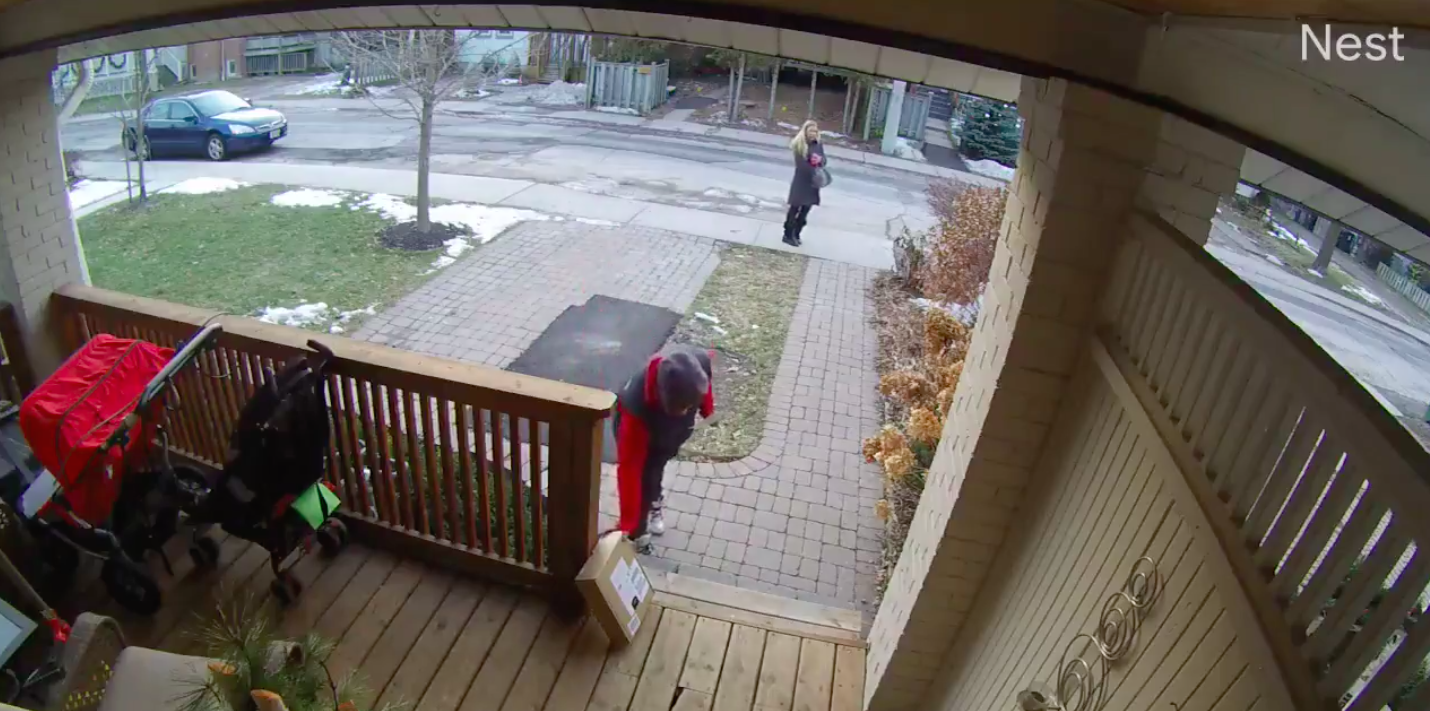 WATCH: Two 'porch pirates' steal package from Toronto home