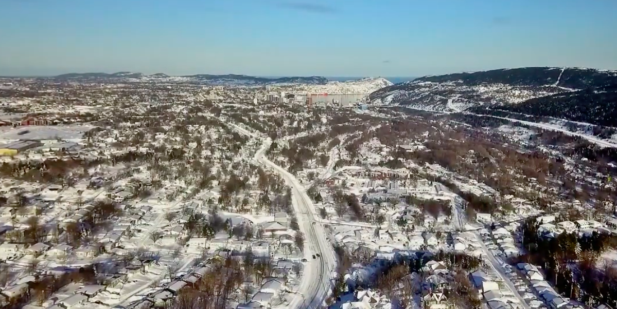 WATCH: Dramatic drone footage of St. John's post blizzard