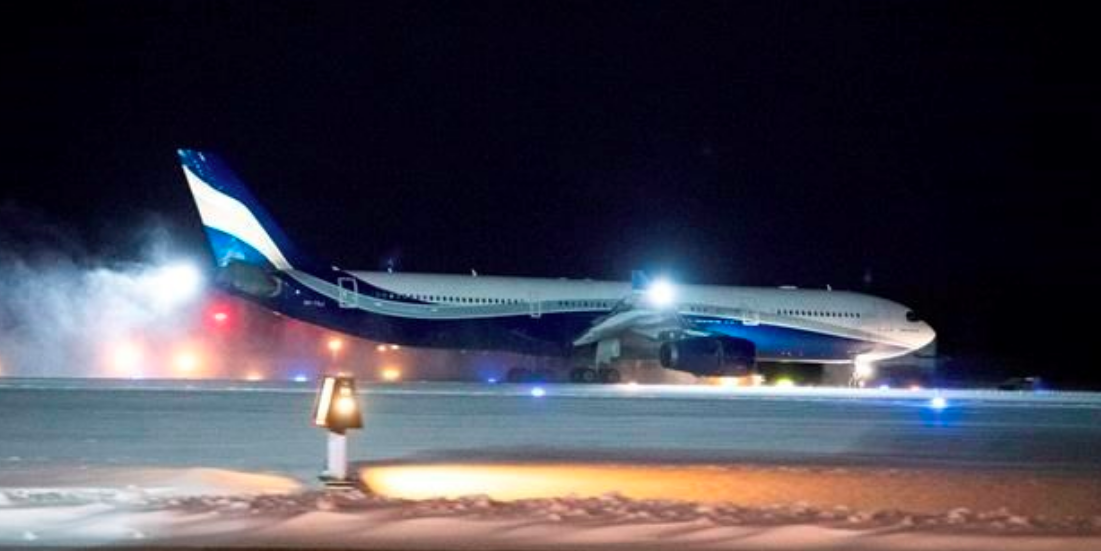 Plane from China arrives in Ontario, where people will be quarantined for possible coronavirus