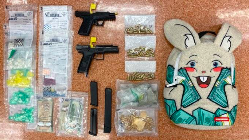 Traffic stop in Quebec finds loaded guns, meth, cocaine, and morphine