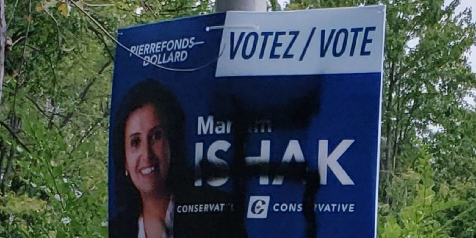 Conservative candidate targeted by antisemitic graffiti