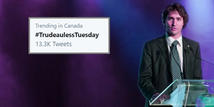 As Canadians head to the polls, #TrudeaulessTuesday trends on Twitter