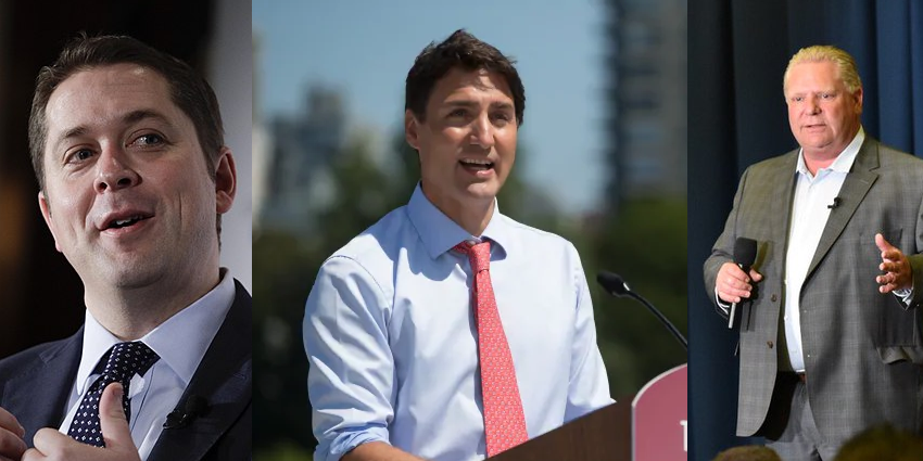 Trudeau throws shade at Ford and Scheer during Ottawa rally
