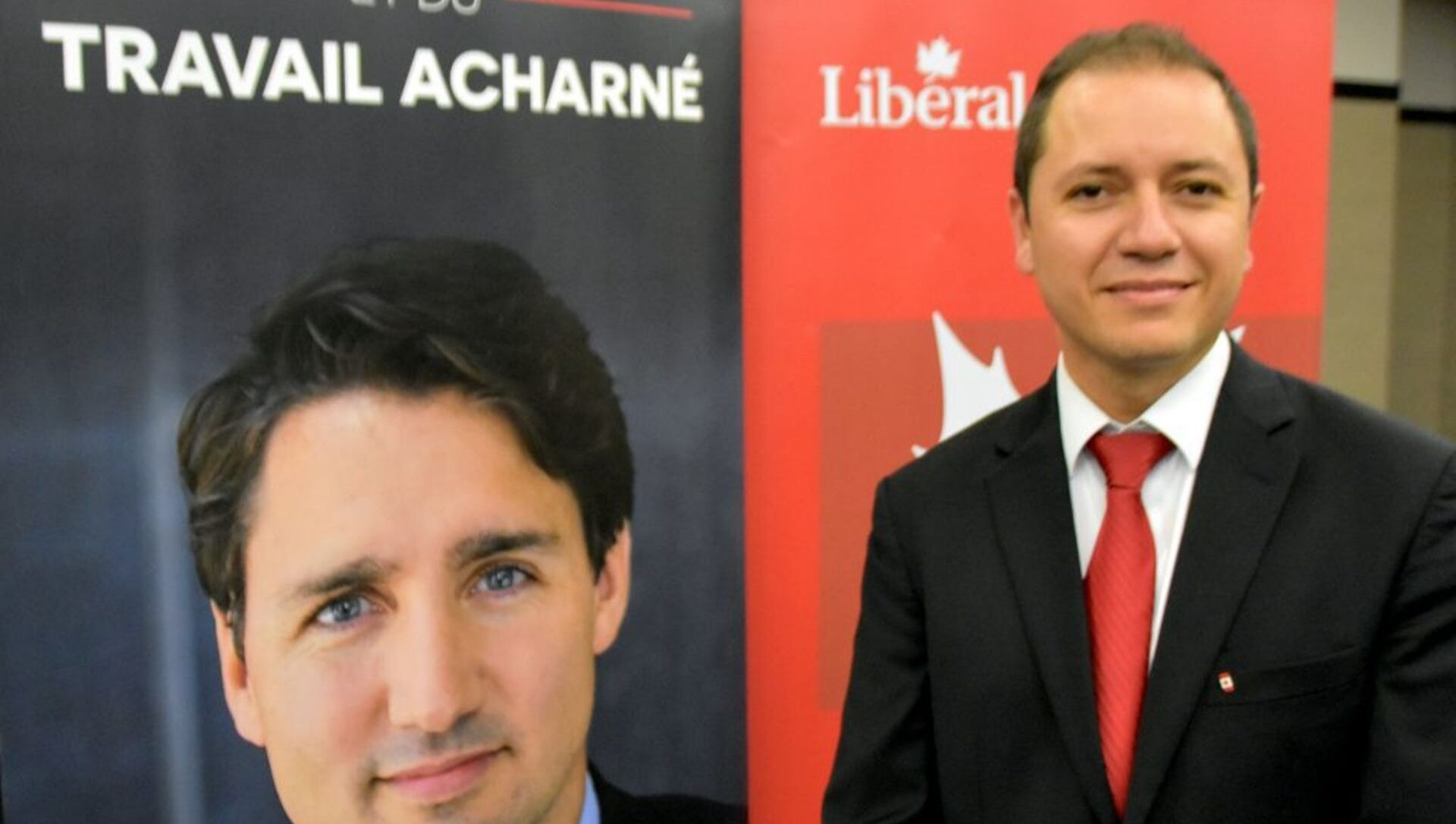 Former cocaine trafficker and wife show up to support the candidacy of Liberal candidate