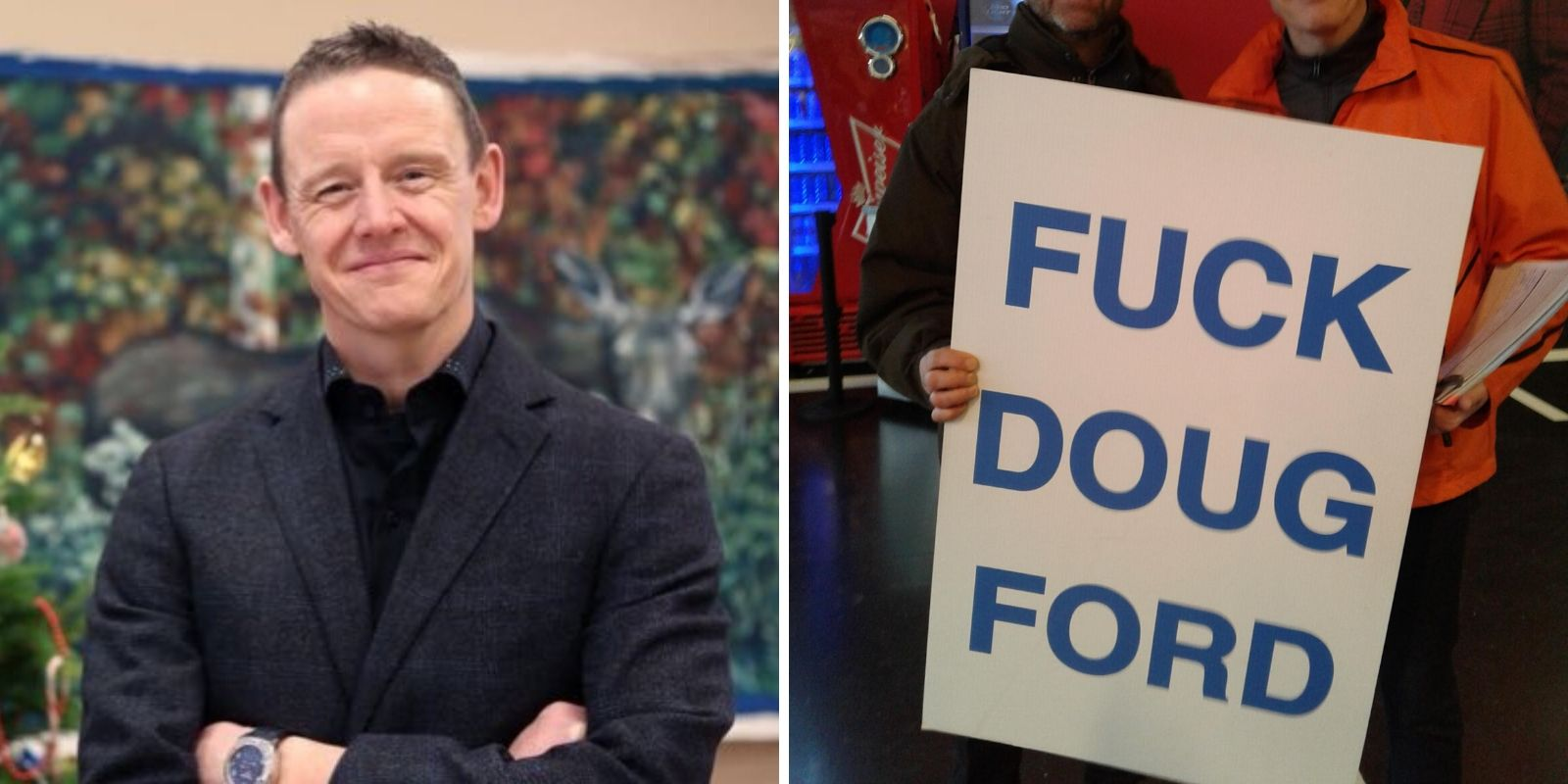 Ontario NDP MPP apologizes for posing with 'F*CK DOUG FORD' sign
