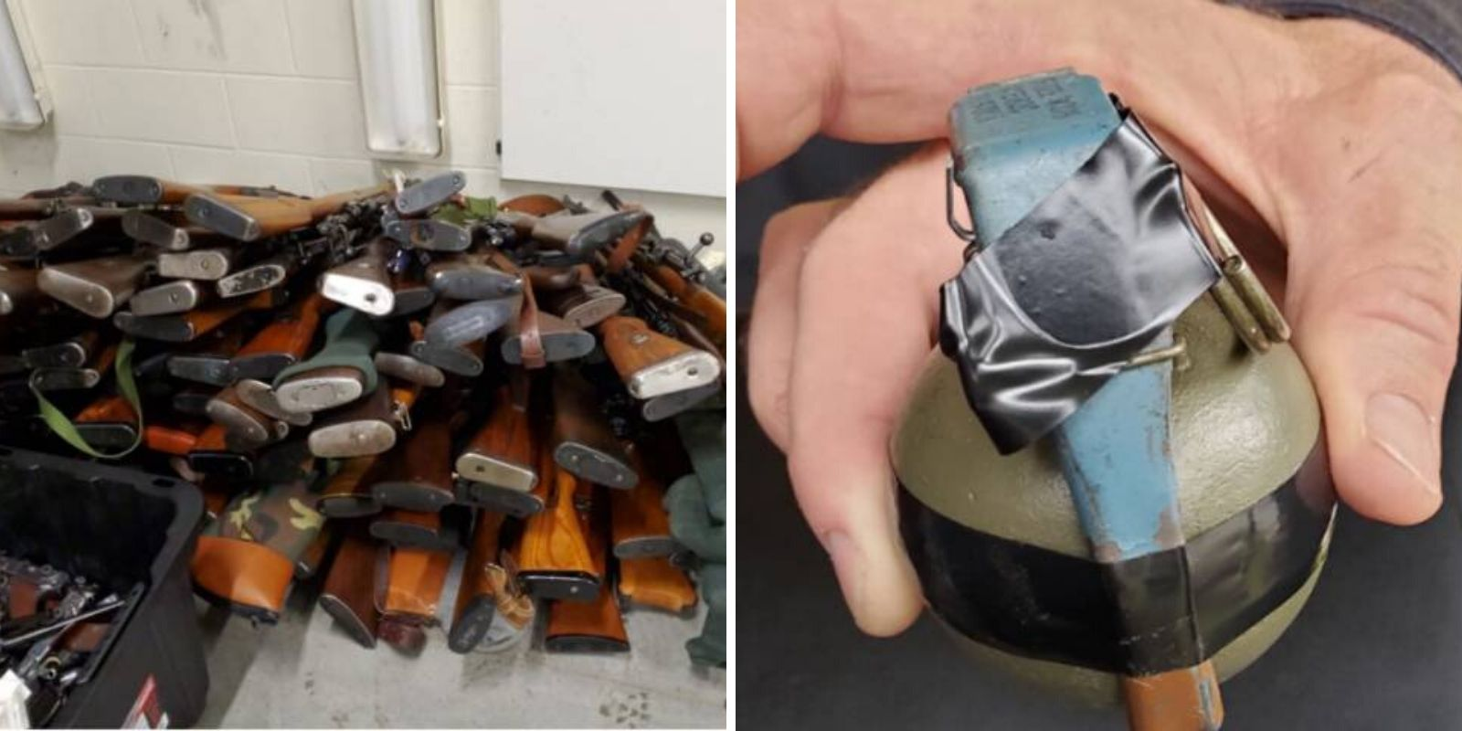 One grenade, 250 guns, and 200K rounds of ammo seized from Kitchener home on Halloween