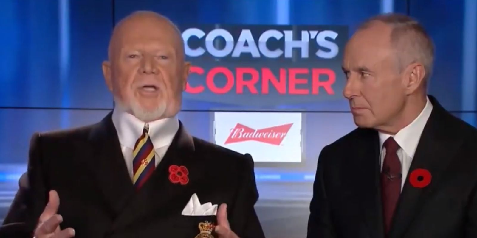 DON CHERRY: Accused of racism on Coach's Corner for saying not enough immigrants wearing poppies