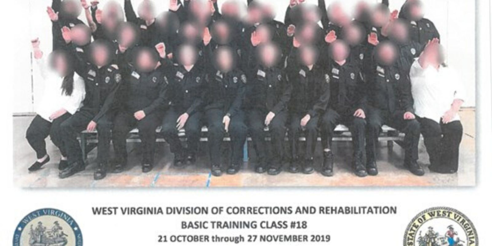 Entire class of West Virginia cadets fired after they performed Nazi salute