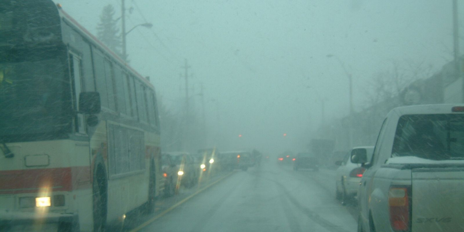 Ontario hit with extremely cold weather, snow squall, and heavy winds