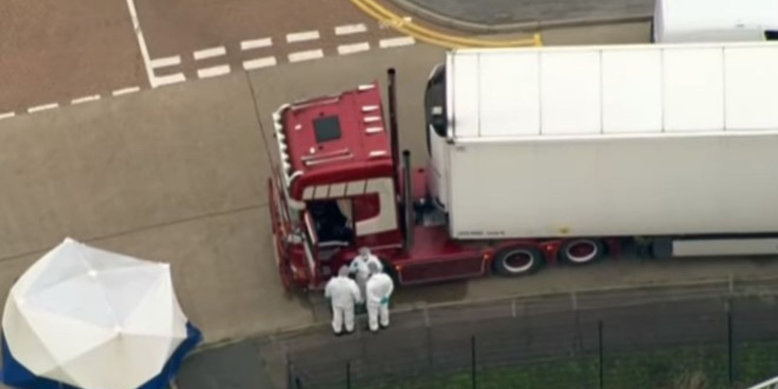 Thirty-nine people found dead in back of transport truck east of London, England
