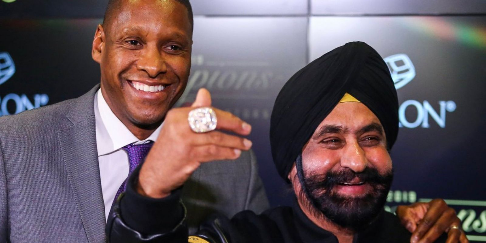 Raptors superfan awarded with personal championship ring