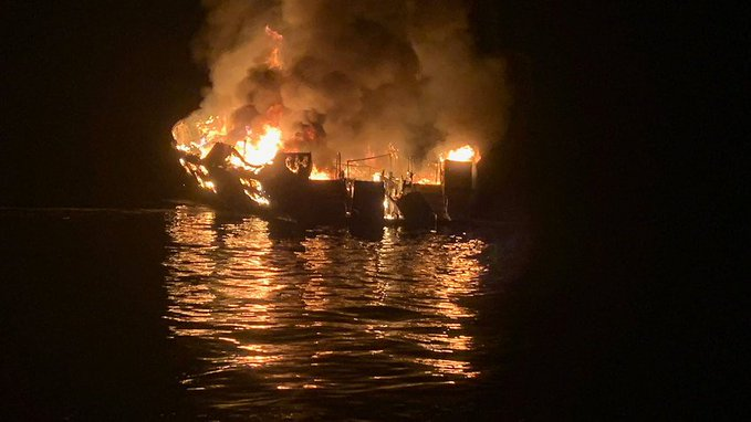 Thirty-four passengers on California dive-boat presumed dead following fire