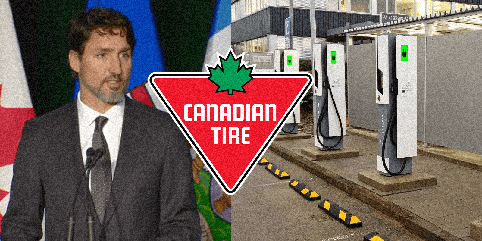 Trudeau gives Canadian Tire $2.7 million for electric car charging stations