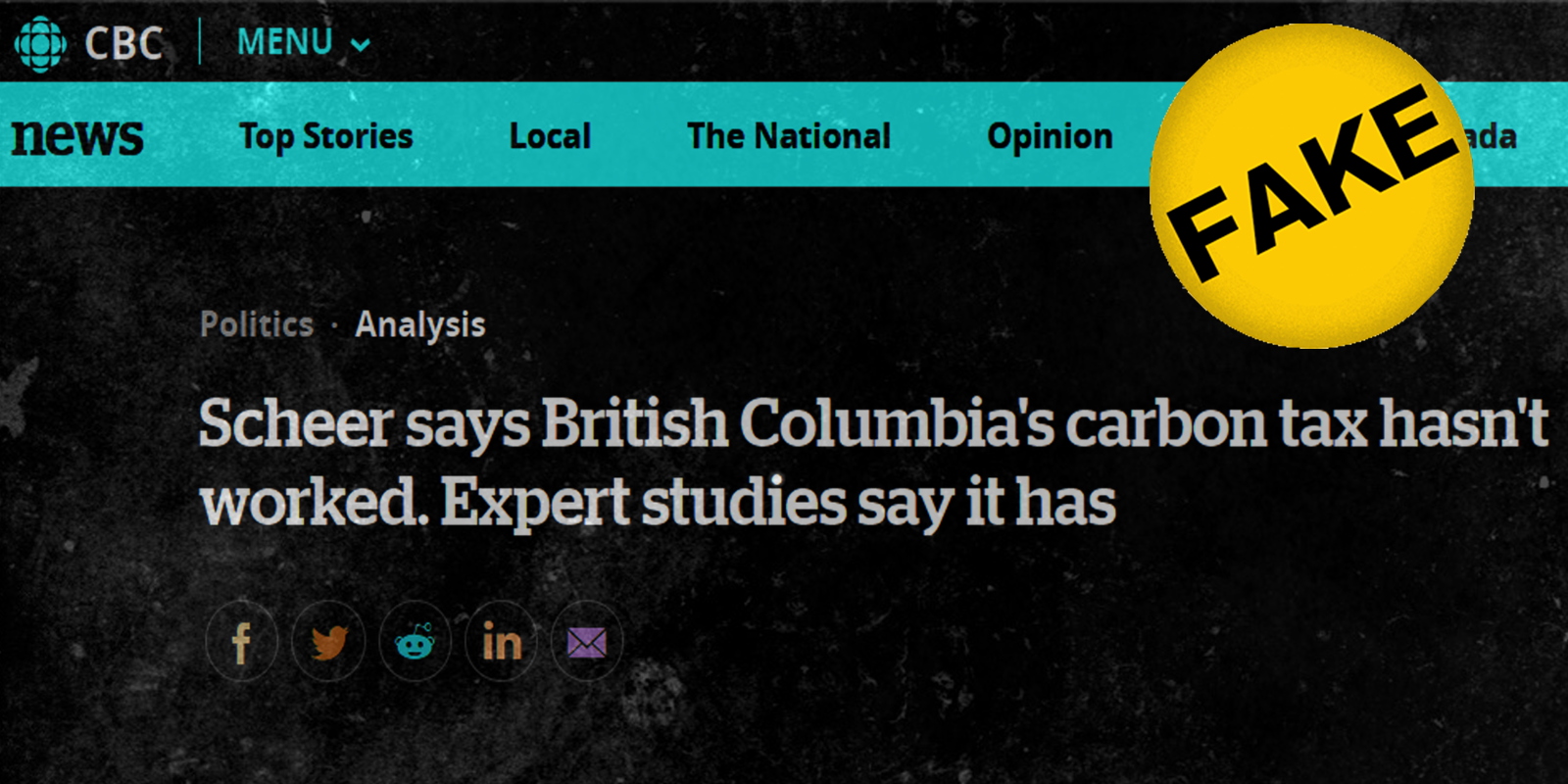 CBC journalist falsely claimed B.C.'s carbon tax is revenue-neutral, article quietly changed later