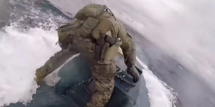 VIDEO: Coast guard crew jumps on drug-smuggling sub, seizes 17,000 pounds of cocaine