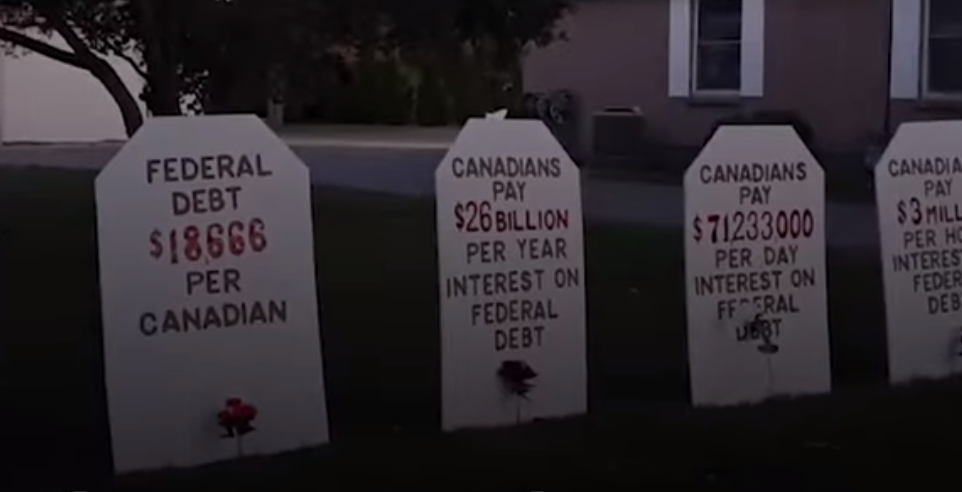 It's Halloween in Canada, and nothing is more frigneting this October than Canada's federal debt