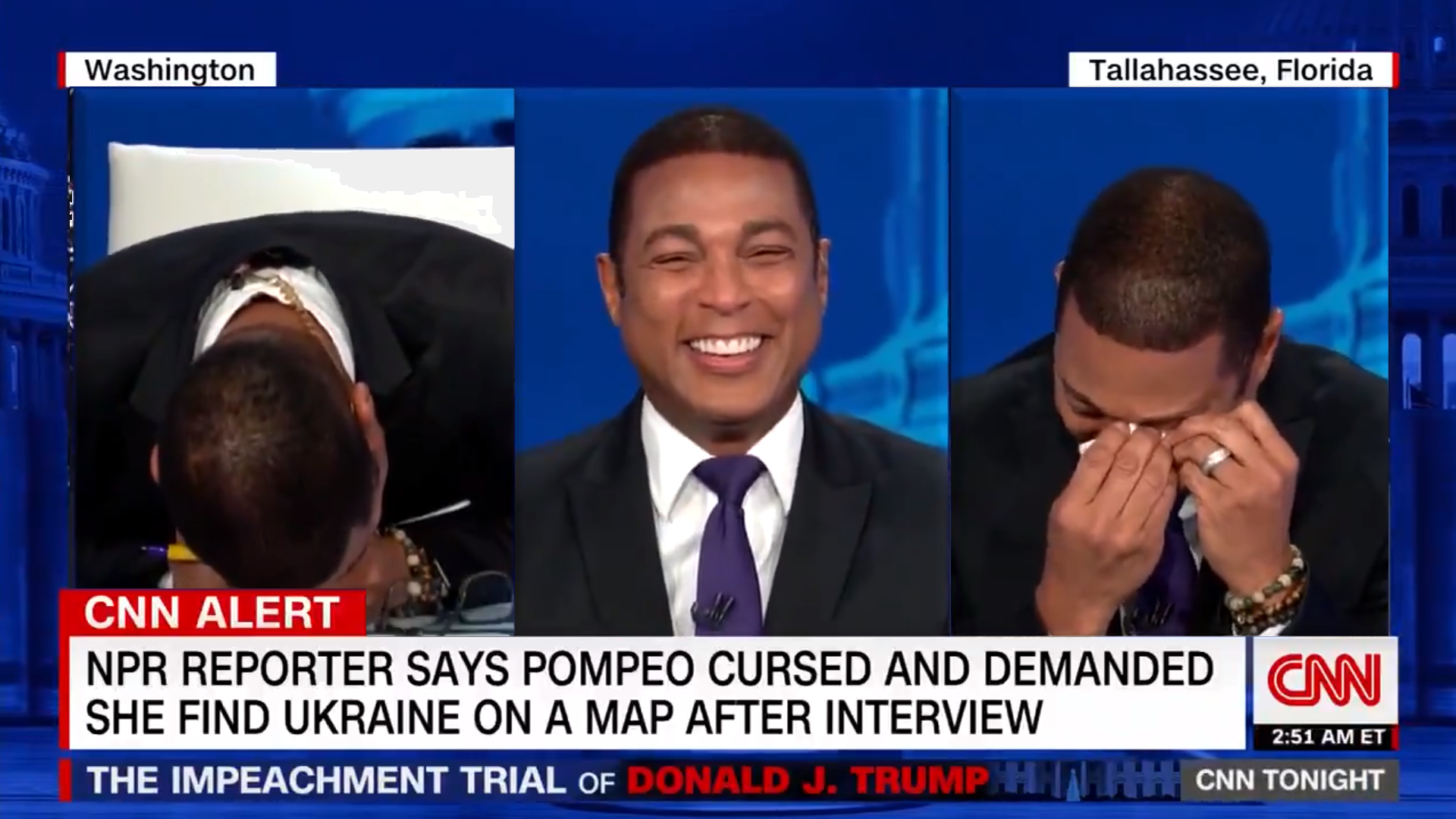 WATCH: Smug CNN host Don Lemon can't stop laughing at Trump voters