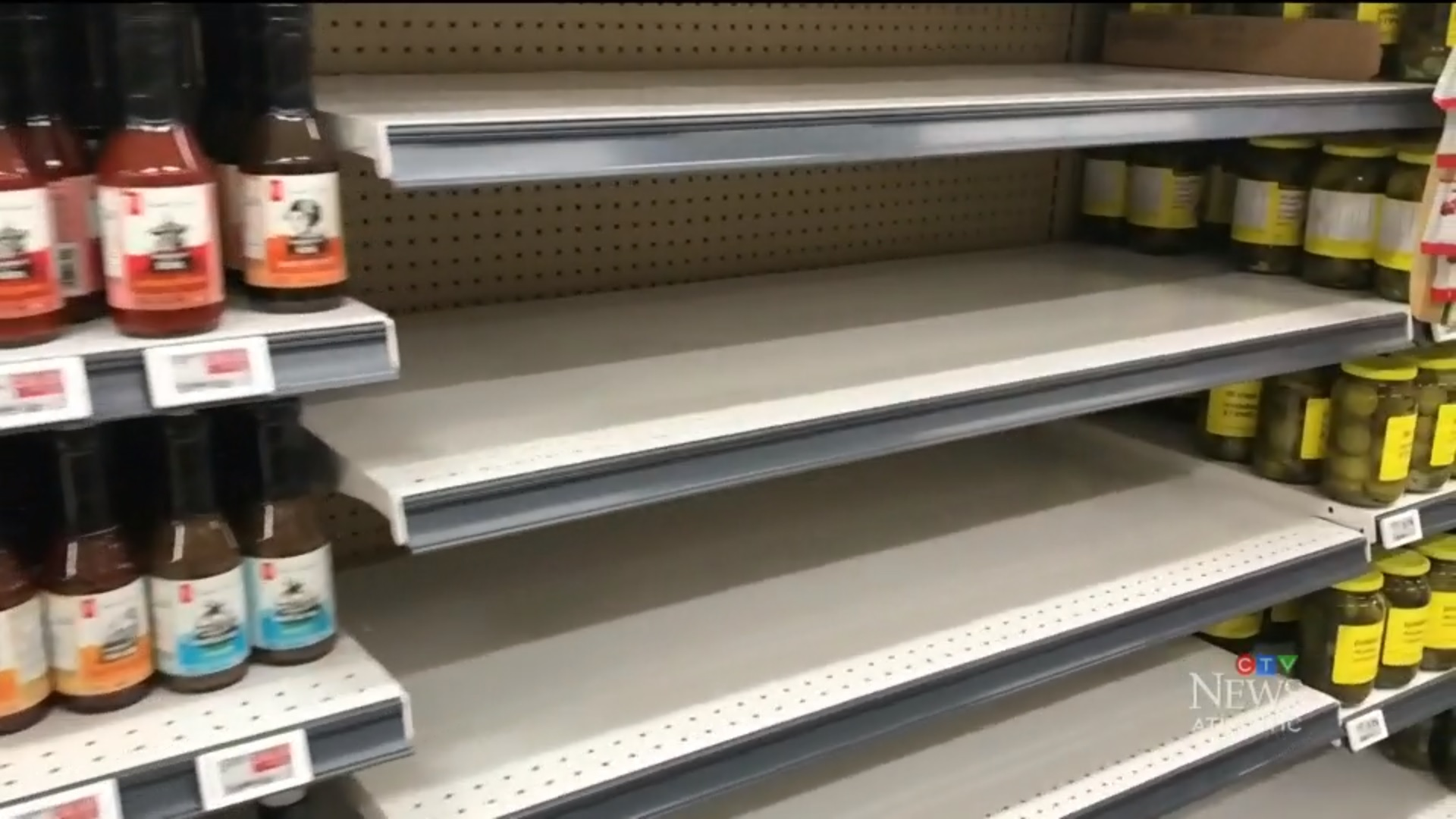 As anti-pipeline blockades continue, grocery stores are starting to run out of goods