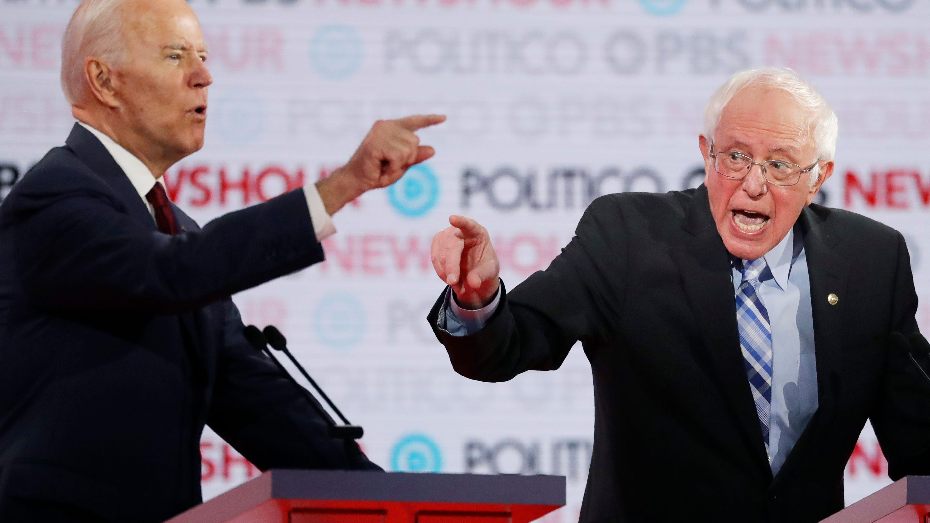Bernie and Biden duke it out on health care