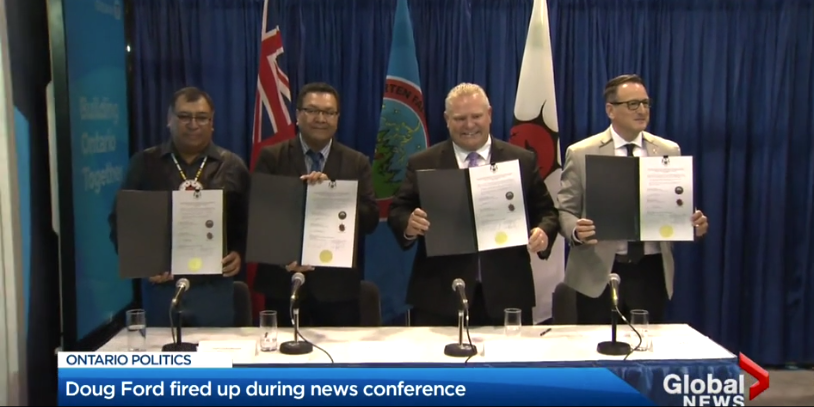 Ford government signs new road deals with Indigenous communities