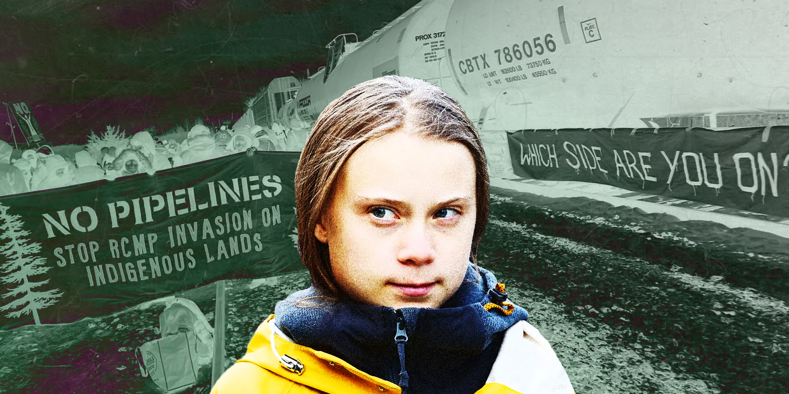 Greta Thunberg voices her support for anti-pipeline protestors