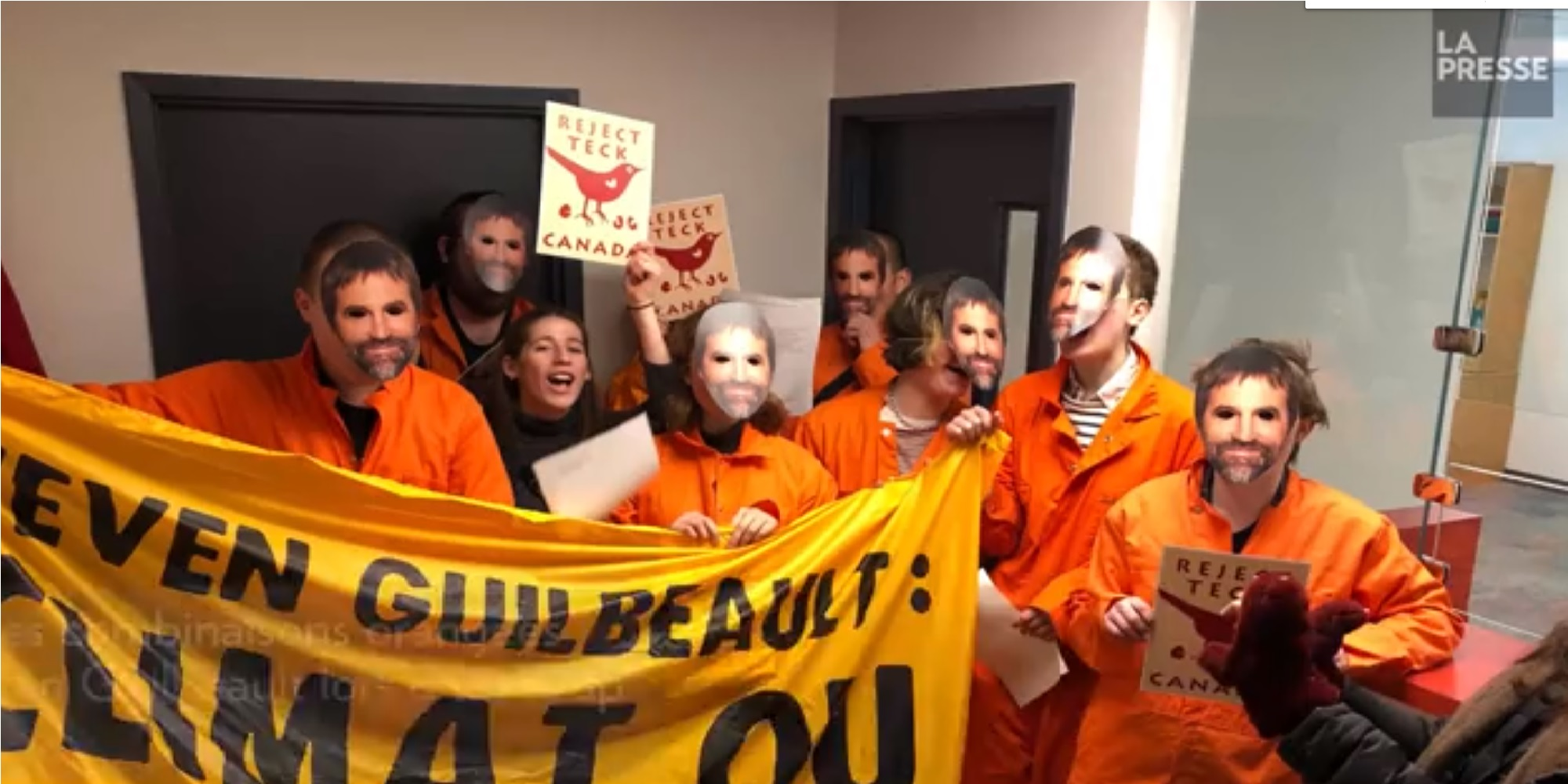 Protestors occupy office of Trudeau minister who advocated for media censorship