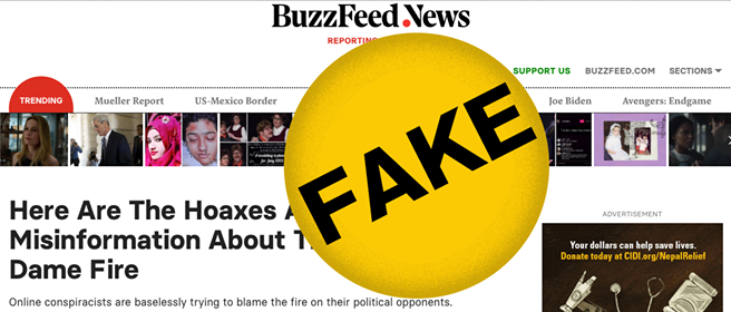 BuzzFeed busted for fake news in story about fake news