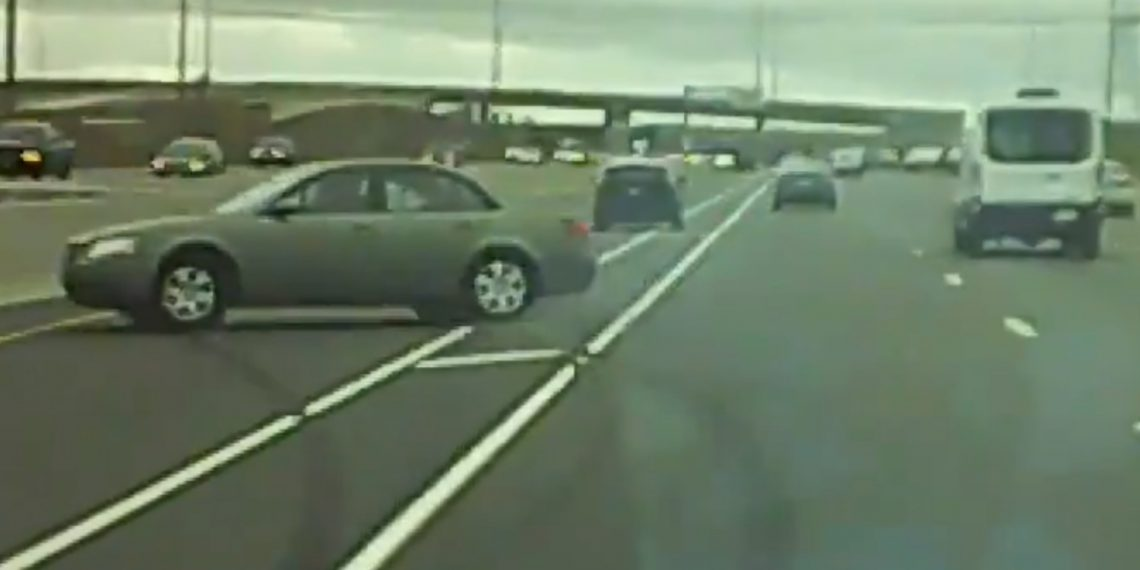 RAW VIDEO: Police looking for horrible driver after crash on Ontario highway