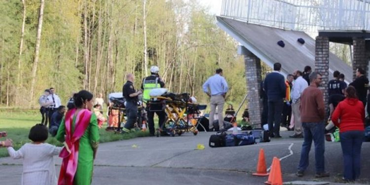 Up to 40 injured after deck collapses at B.C. wedding party